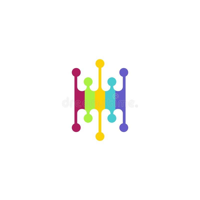Abstrakt idérikt färgrikt Vektorlogomall arkivbild