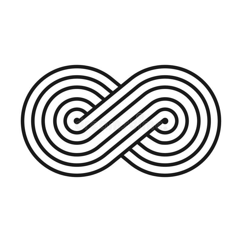 Abstrakt idérikt symbol för oändlighets- och evighetaffär stock illustrationer