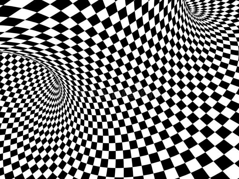 Abstrakt illusion vektor illustrationer