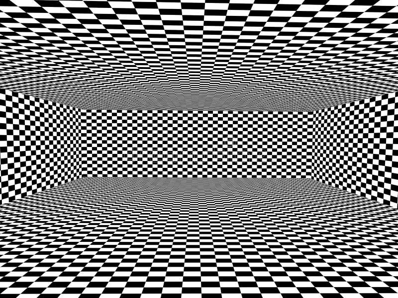 Abstrakt illusion royaltyfri illustrationer