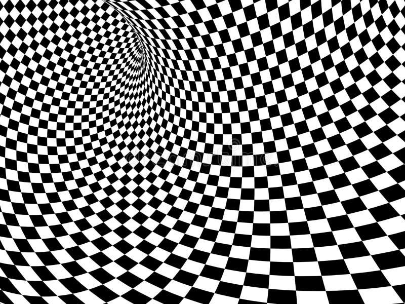 Abstrakt illusion stock illustrationer