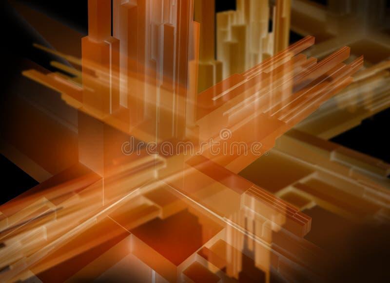 abstrakt illustration 3d vektor illustrationer