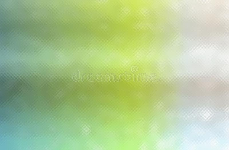 Abstrakt illustration av blå och krämig färgrikt för gräsplan, till och med mycket liten glass bakgrund stock illustrationer