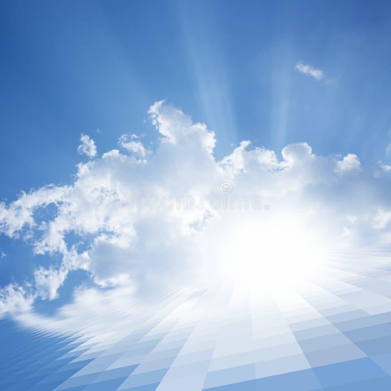 Abstrakt illustration av den sol- panelen royaltyfri bild