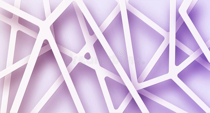 Abstrakt illustration av vita linjer stock illustrationer