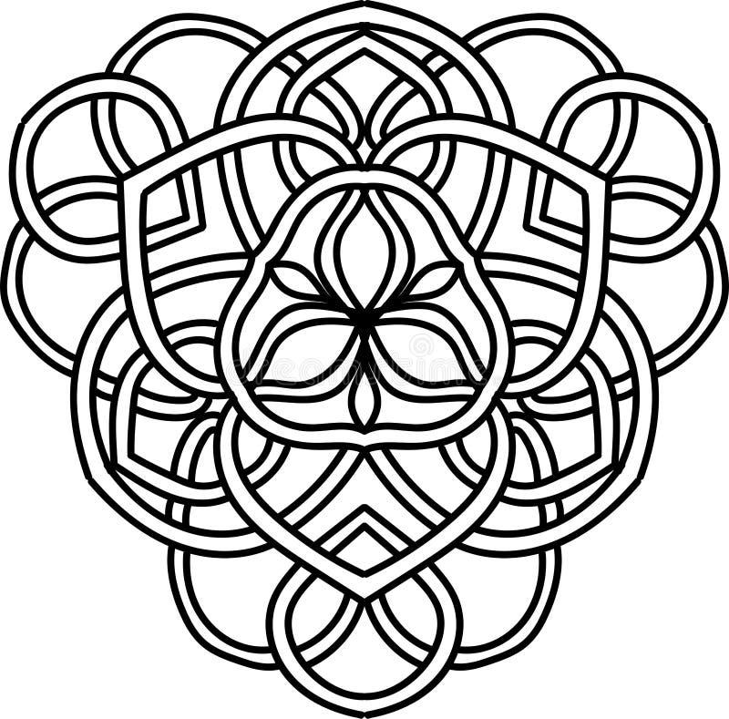 abstrakt illustration Best?ndsdel f?r design med celtic motiv vektor illustrationer