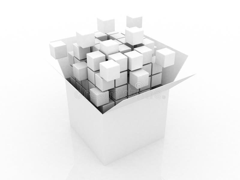 Abstrakt illustration 3d av kuben stock illustrationer