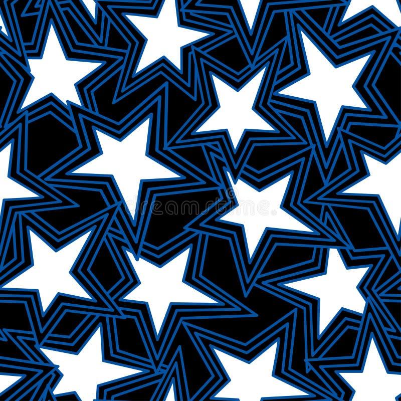 Abstrakt illustration för stjärna i en sömlös modell royaltyfri illustrationer