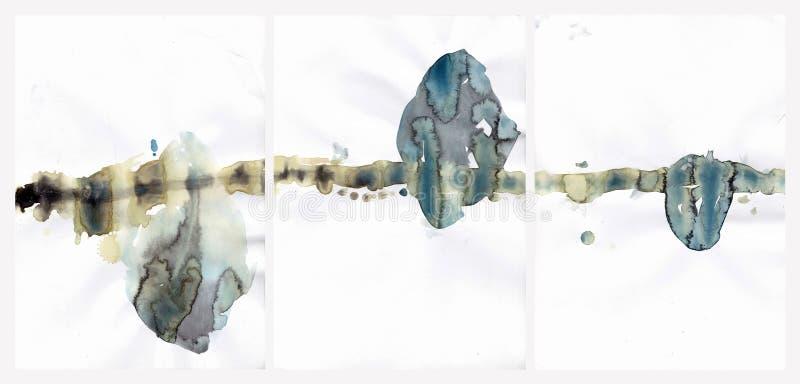 Abstrakt illustration för vattenfärgbakgrundshjärtor royaltyfri illustrationer