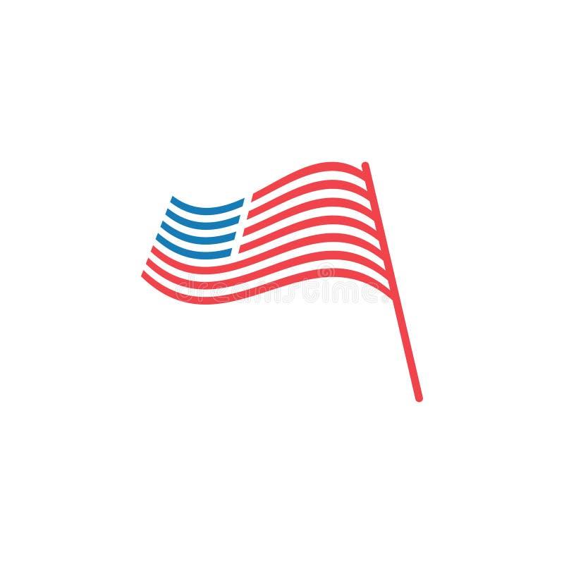 Abstrakt illustration för vektor för mall för grafisk design för amerikanska flaggan stock illustrationer