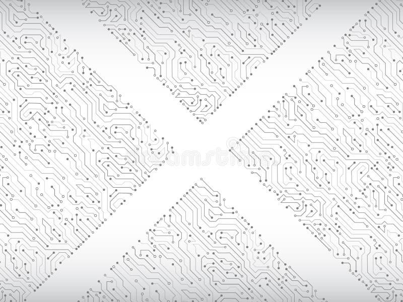 Abstrakt illustration för vektor för triangelströmkretsbräde royaltyfri illustrationer