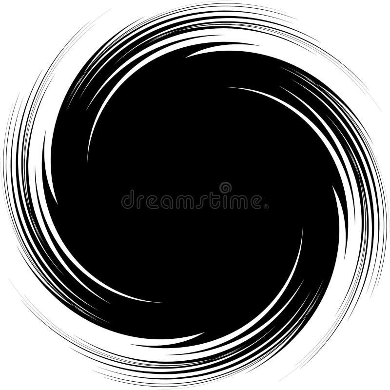 Abstrakt illustration med spiralen, virvelbeståndsdel, i att fästa ihop mas vektor illustrationer