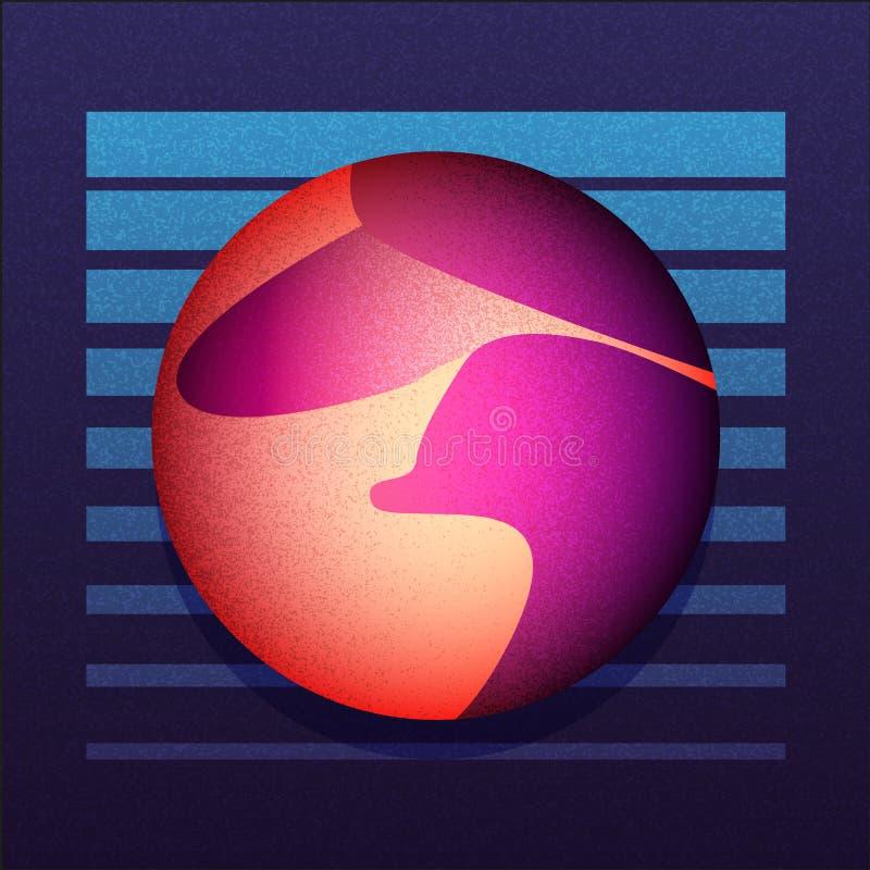 Abstrakt illustration sci-fi3 stock illustrationer
