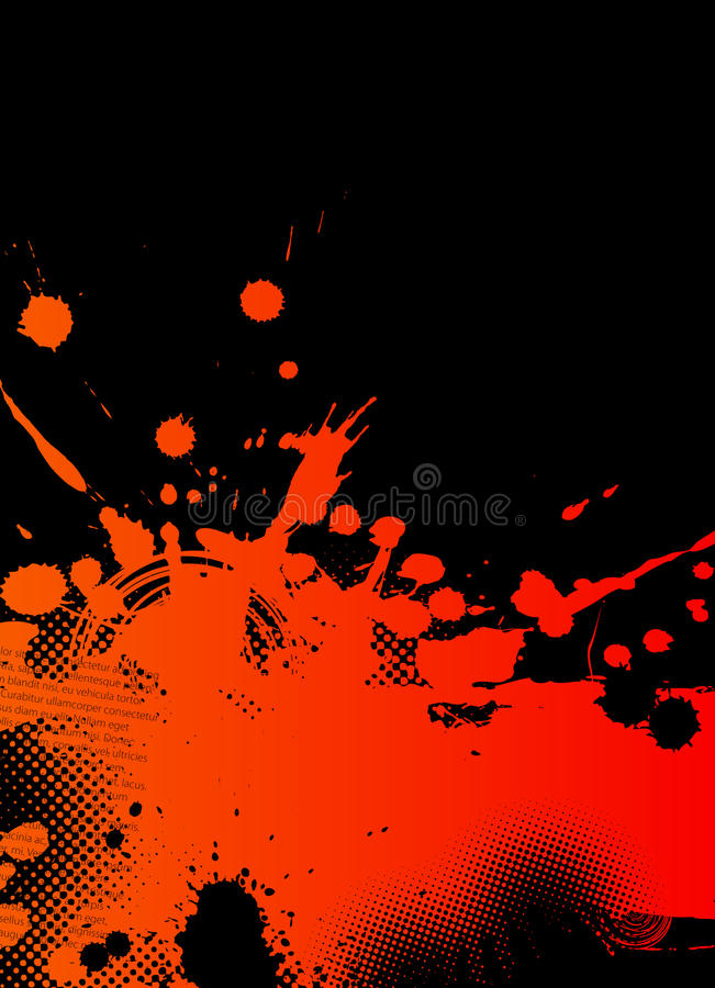 abstrakt illustrationfärgstänk royaltyfri illustrationer