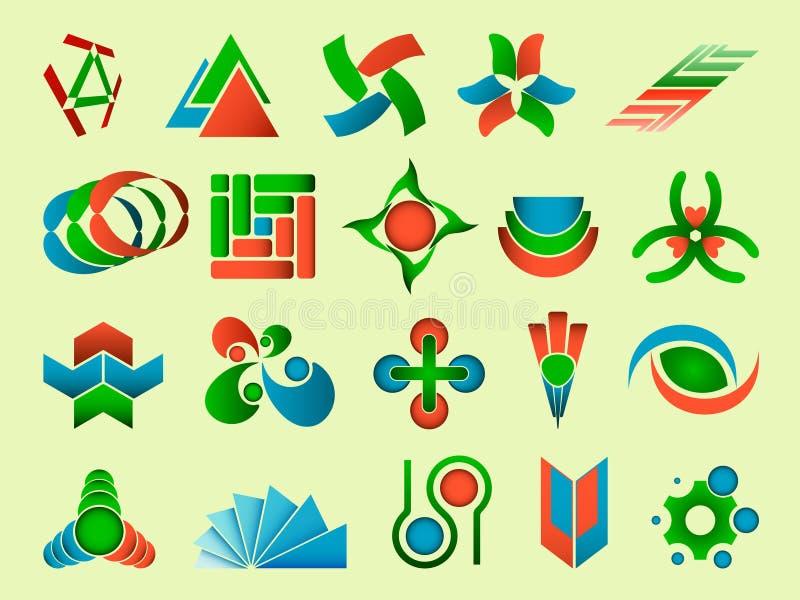 abstrakt illustrationlogovektor stock illustrationer