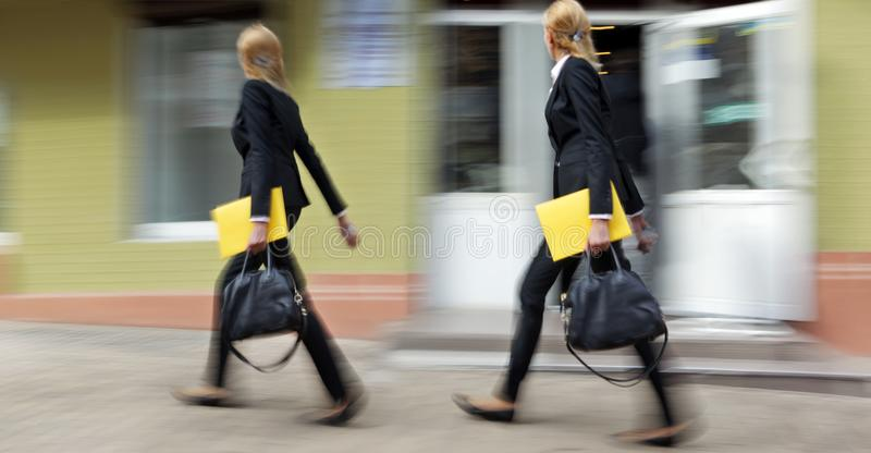 Group of business people in the street stock photography
