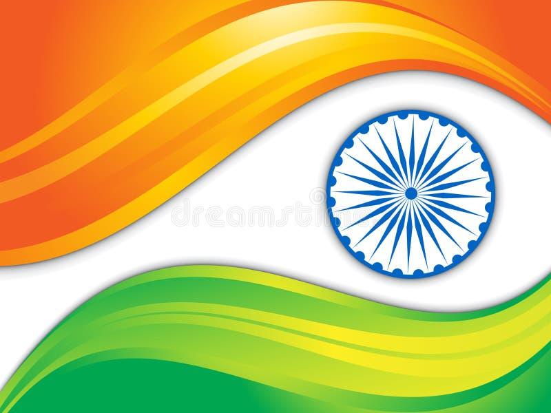 Abstrakt indisk flaggabakgrund vektor illustrationer