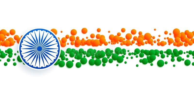Abstrakt indiskt flaggabaner som göras med cirklar stock illustrationer