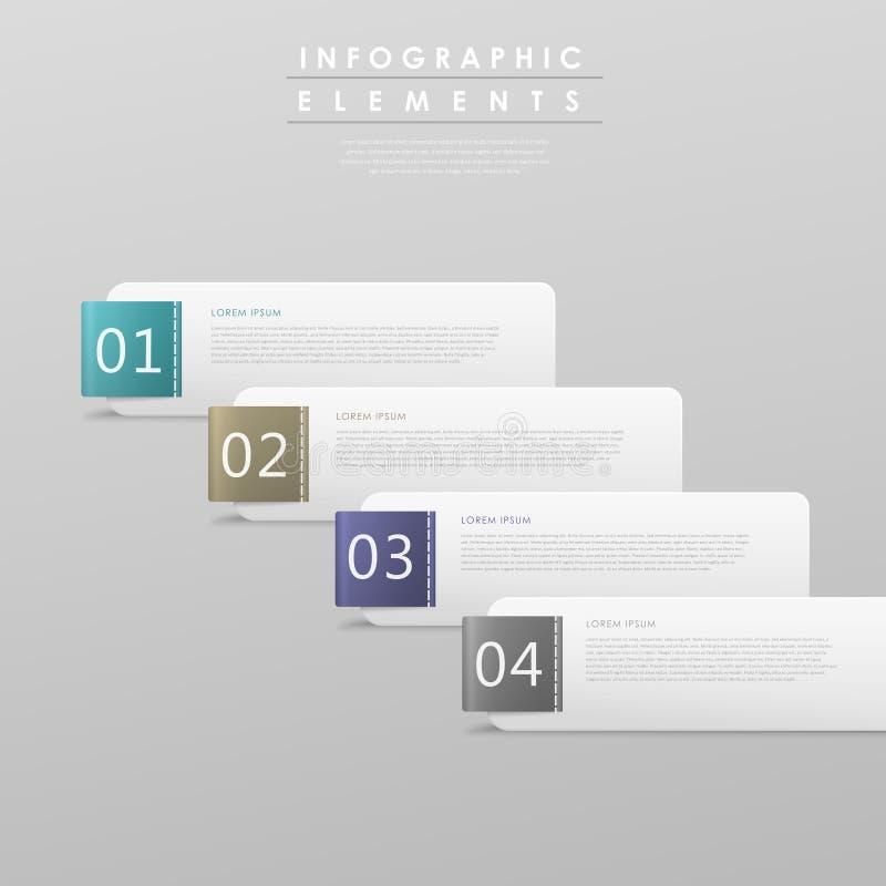 Abstrakt infographic malldesign stock illustrationer