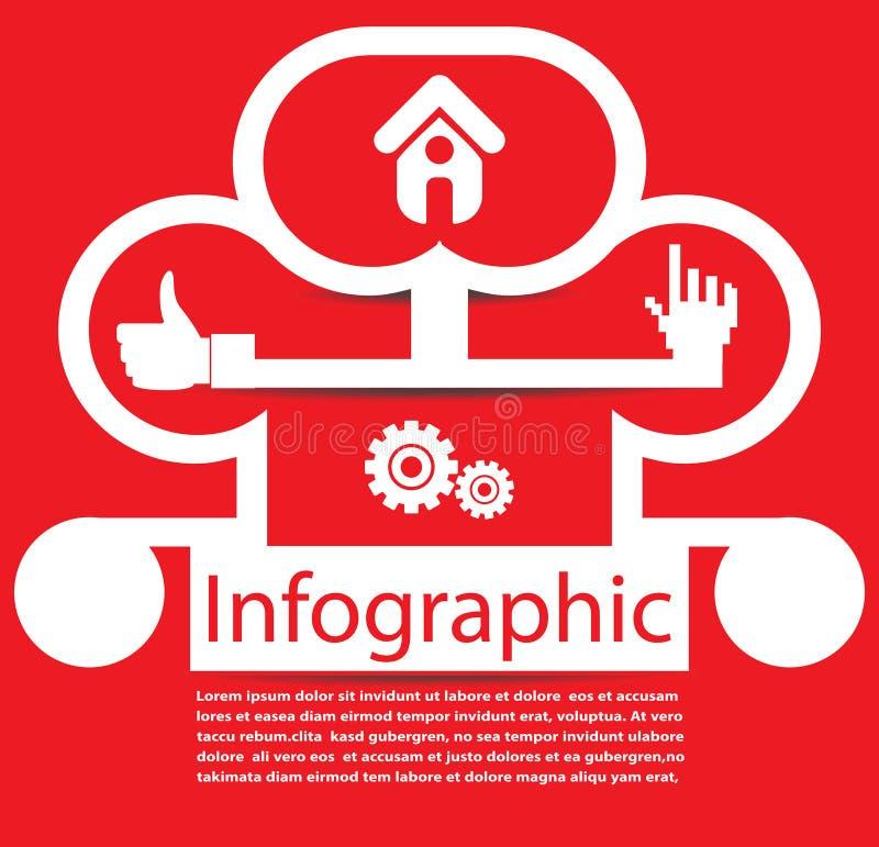 Abstrakt infographic vektorbakgrund royaltyfri illustrationer