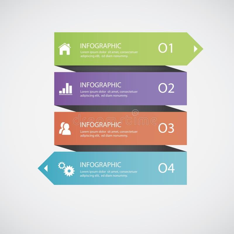 Abstrakt infographics arkivfoton
