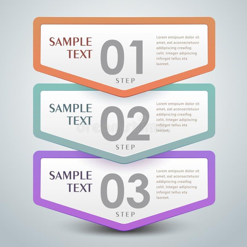 Abstrakt infographics för baner 3d stock illustrationer