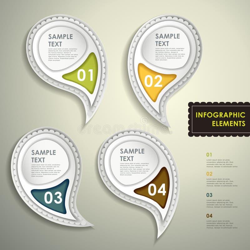 Abstrakt infographics för etikett 3d vektor illustrationer