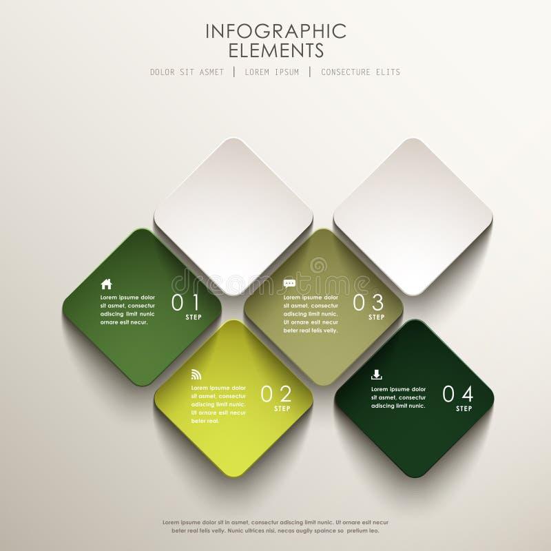 Abstrakt infographics för etikett 3d royaltyfri illustrationer