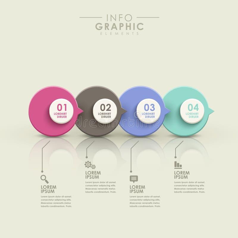 Abstrakt infographics för flödesdiagram stock illustrationer