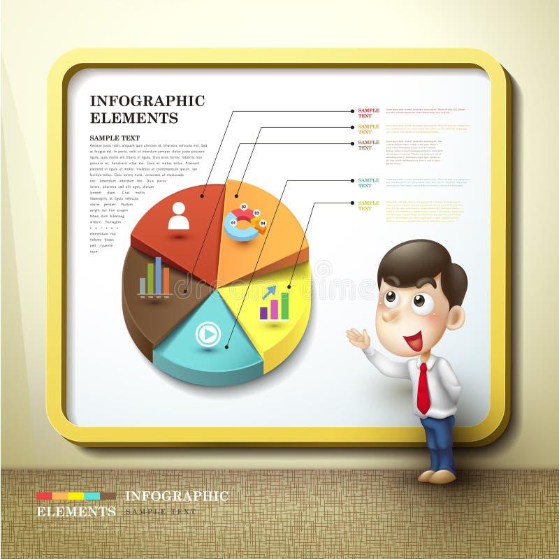 Abstrakt infographics för pajdiagram vektor illustrationer