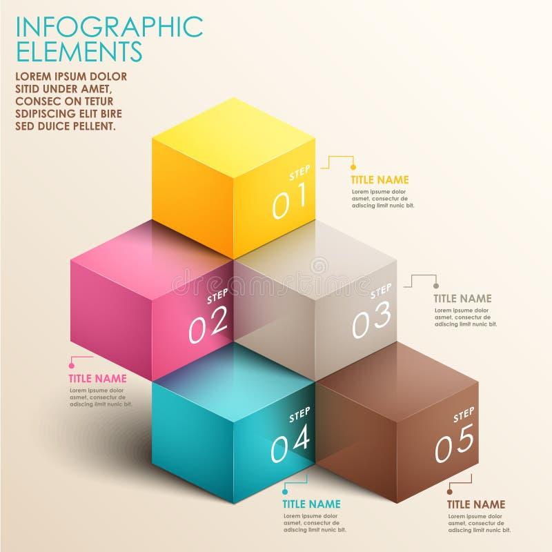 Abstrakt infographics för trappuppgång 3d royaltyfri illustrationer