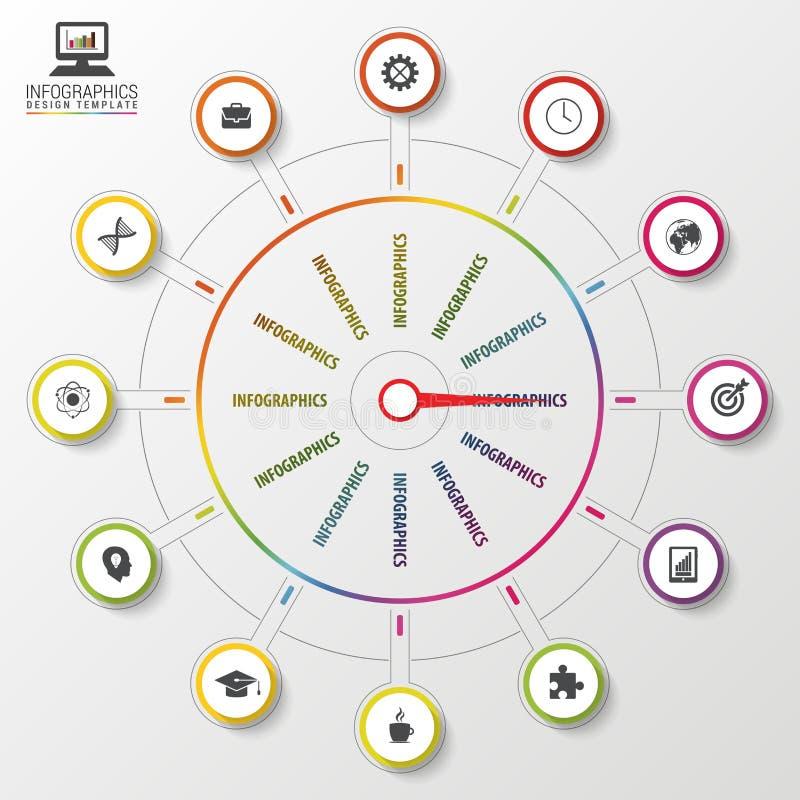 Abstrakt infographicsmall pekare modern mall för design också vektor för coreldrawillustration royaltyfri illustrationer