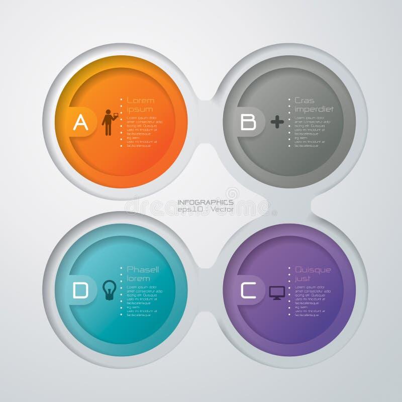 Abstrakt infographicsmalldesign vektor illustrationer