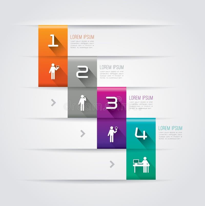 Abstrakt infographicsmalldesign. vektor illustrationer