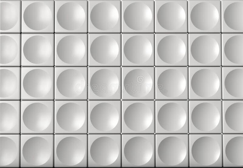 Abstrakt inomhus futuristic akustisk vägg vektor illustrationer