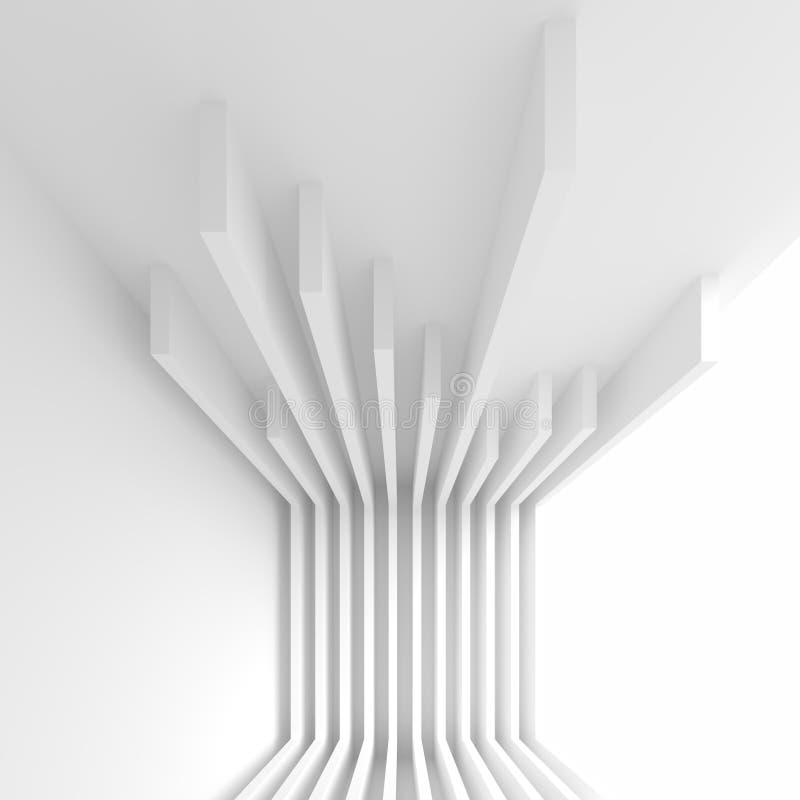 Abstrakt inredesign Kontorsrumbakgrund Vit modern W stock illustrationer