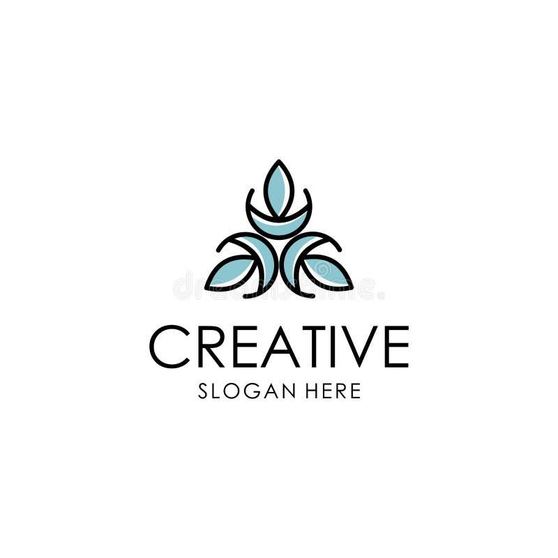 Abstrakt inspiration för blommalogodesign stock illustrationer