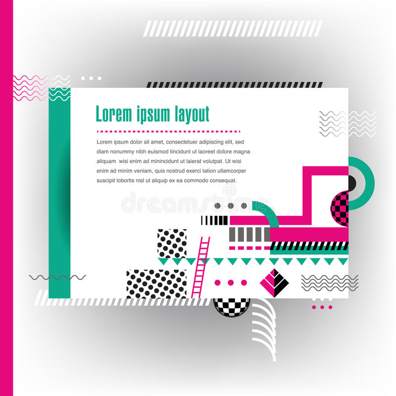 Abstrakt intressant geometrisk design royaltyfri illustrationer