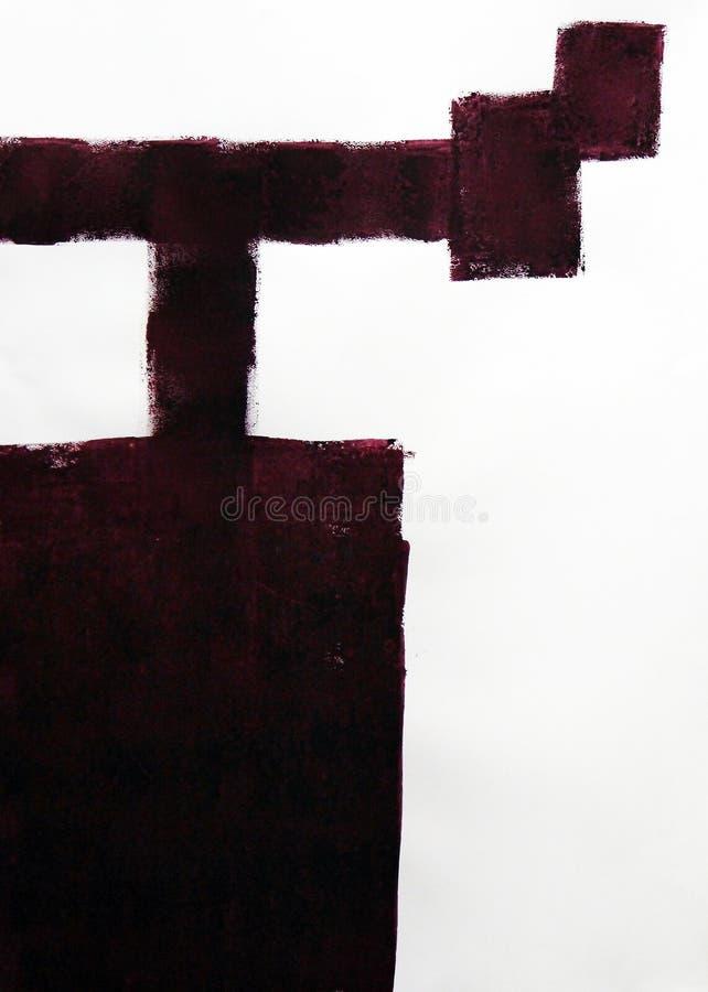 Abstrakt intryck av en konstruktionskran Dra en rektangel och breda linjer royaltyfria bilder