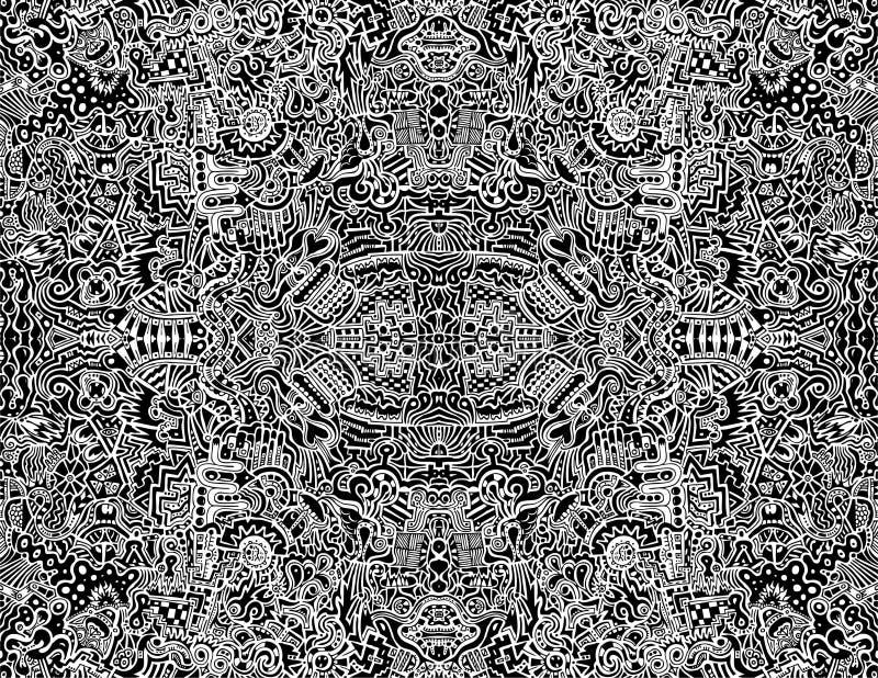 abstrakt invecklad seamless vektor vektor illustrationer