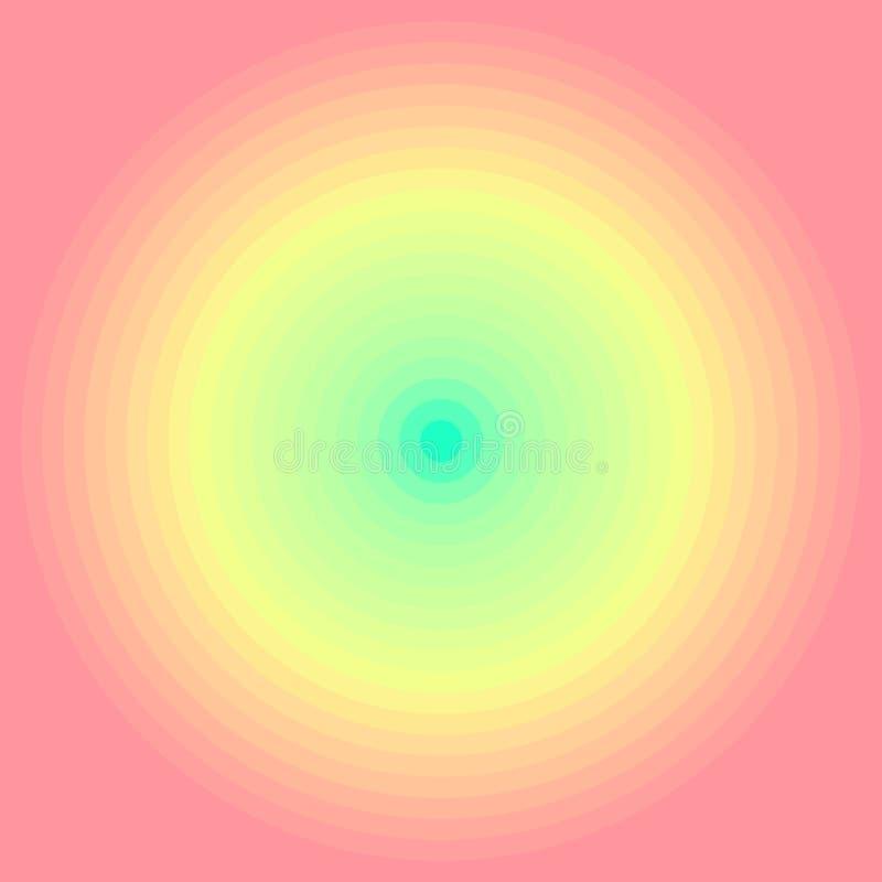 Abstrakt iryzuje promieniowego gradientowego tło E o ilustracji