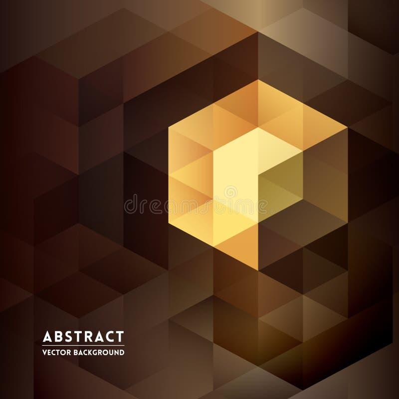 Abstrakt isometrisk Shape bakgrund vektor illustrationer