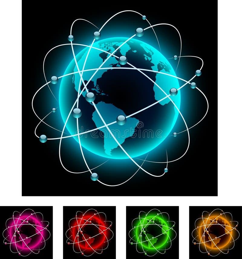 abstrakt jordklot vektor illustrationer