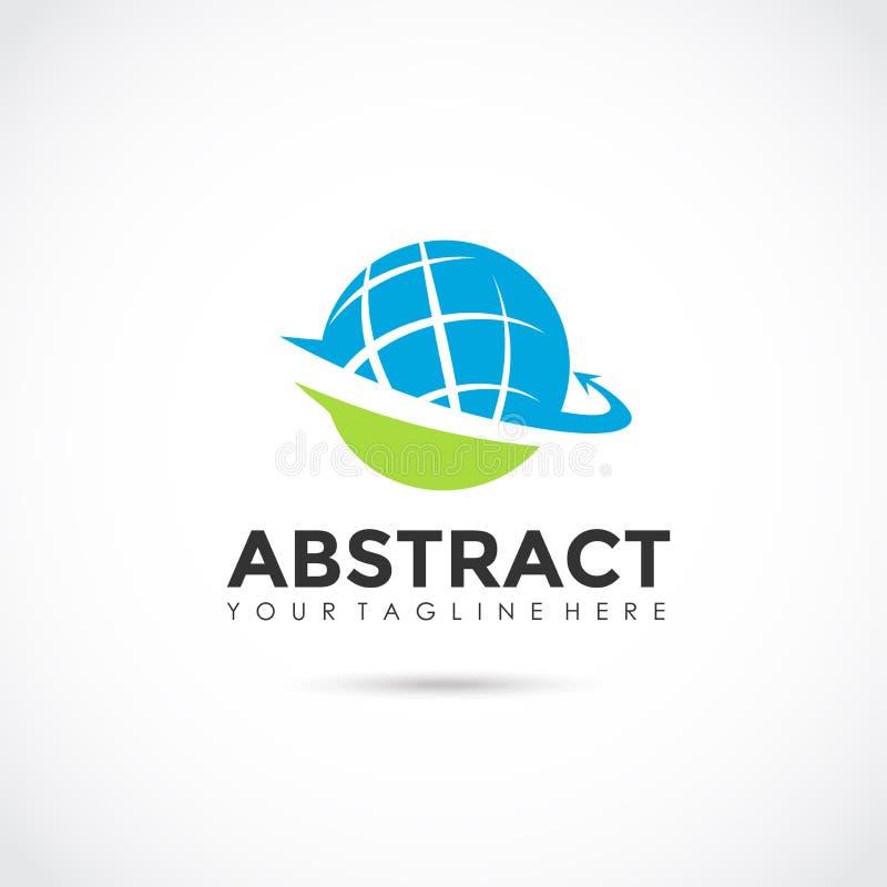 Abstrakt jordklot Logo Design Vektorillustratör EPS 10