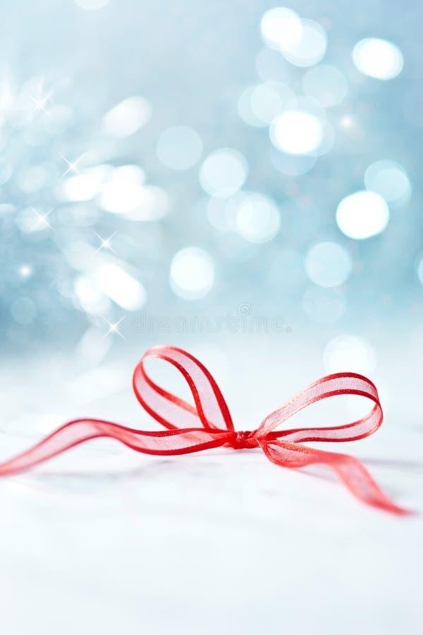 Abstrakt julbakgrundspilbåge arkivbild
