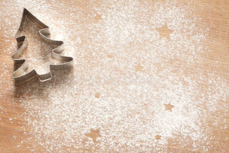 Abstrakt julmatbakgrund med kakor fotografering för bildbyråer