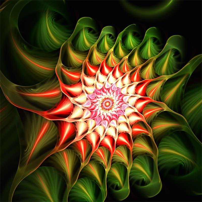 Abstrakt kaktus för stjärna för fractalkonstjul royaltyfri illustrationer