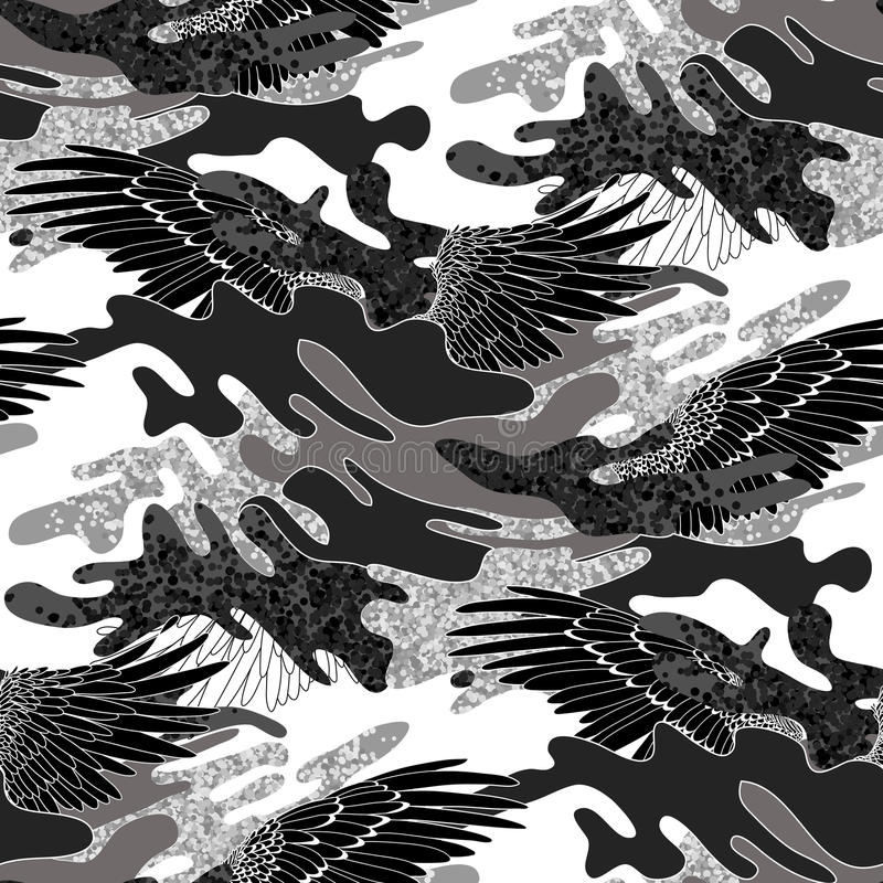 Abstrakt kamouflagemodell stock illustrationer