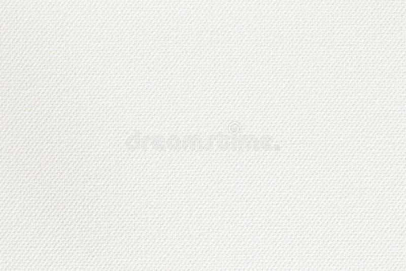 Abstrakt kanfasyttersida f?r designen, vit kanfastextur f?r bakgrund arkivfoton