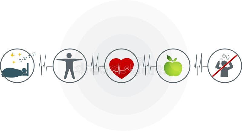 Abstrakt kardiogram stock illustrationer